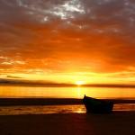 Amanecer en playa El Zapote.