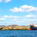 Panorámica del puerto en San Lorenzo.