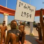 Monumento en honor a la histórica Huelga del 54 (1954).