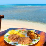 Almuerzo típico de la gastronomía garífuna en la comunidad de East End.
