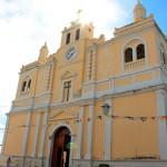 Estructura de la iglesia católica de Amapala.