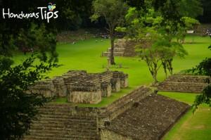 Campo de pelota en el Parque Arqueológico Copán Ruinas.