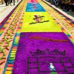 Comayagua también es famosa por sus alfombras de aserrín en Semana Santa.