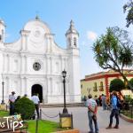 Parque central de Santa Rosa de Copán y parroquia Santa Rosa de Lima.
