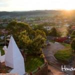 Vista panorámica de las ciudades gemelas de La Esperanza e Intibucá.