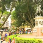 Parque central de Tegucigalpa.