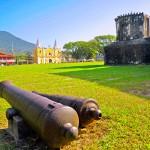 Vista del centro de Trujillo desde la Fortaleza de Santa Bárbara.