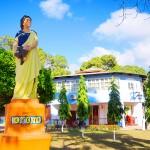 En el parque central de Trujillo podrá apreciar las cuatro estaciones representadas con esculturas.