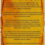Carta de Bienvenida del Restaurante Ni-Fu Ni-Fa Tegucigalpa