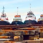 Embarcaciones en la Empresa Nacional Portuaria.