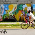 La bicicleta es un medio de transporte común de los porteños.