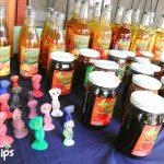 Vinos y jaleas del grupo de mujeres organizado Amalancetilla, son elaborados de frutos exóticos de la colección del jardín.