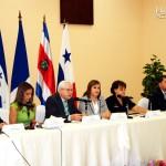 Los ministros de turismo centroamericanos.