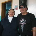 Durante la entrega de los donativos del Motofest  en Santa Rosa de Copán.