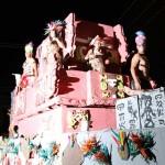 Representación Maya durante carnaval de Puerto Cortés.
