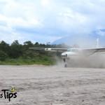 Los primeros vuelos en aterrizar tras la inauguración procedían desde San Pedro Sula y Roatán.