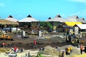 Los trabajos de construcción avanzan a pasos agigantados. (Fotografía de: Diario La Prensa)