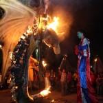 Trinidad, Santa Bárbara celebró la noche del arte y el fuego