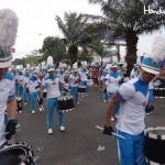 La banda del insigne colegio sampedrano José Trinidad Reyes encabezaron el evento.