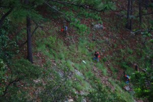Para llegar hasta Las Minas, tendrá que subir y bajar algunas pendientes. Foto: Mapachines Camping Club.