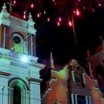 Impresionante videomapping en catedral de San Pedro Sula