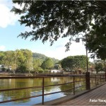 En la Laguna de Santa Lucía, usted podrá disfrutar de un paseo en canoa.