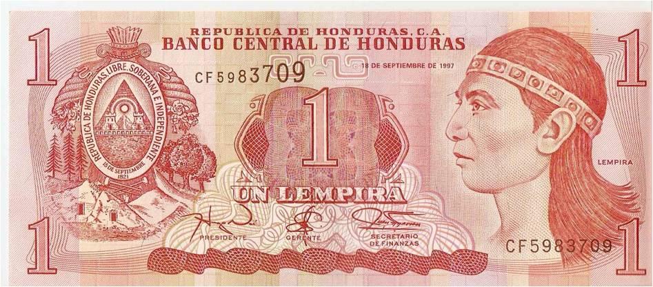 El lempira se encuentra entre los 16 billetes más bellos del mundo.