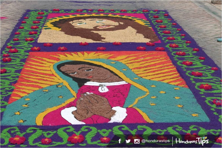 La tradición de alfombras ha permitido que la ciudad de Comayagua se convierta en uno de los principales atractivos turísticos del país.