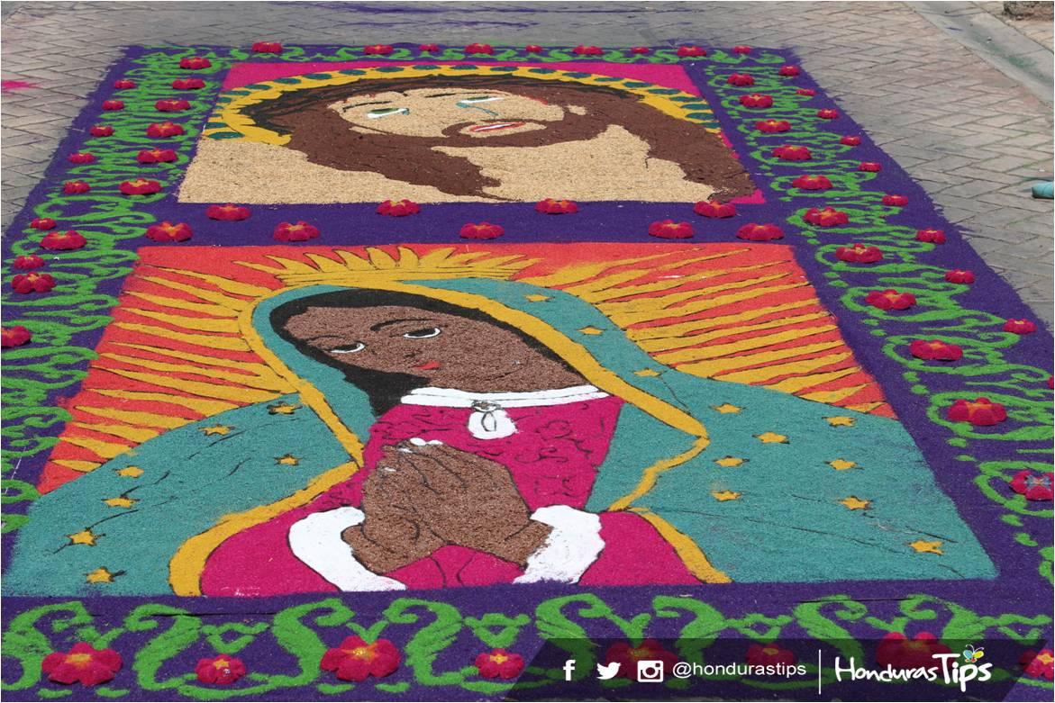 Alfombras de comayagua una colorida tradici n en semana santa for Fotos de alfombras