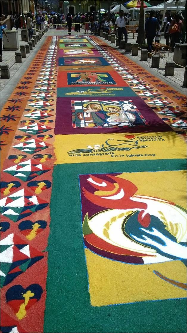 Alfombras de comayagua una colorida tradici n en semana santa for Que son las alfombras