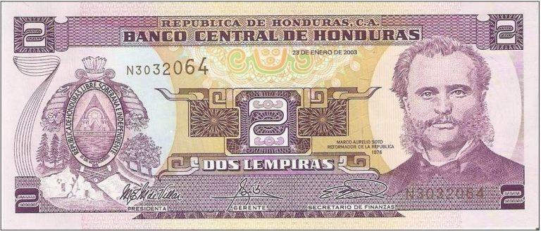 El color morado del billete de dos lempiras es un atractivo para los coleccionistas de monedas.