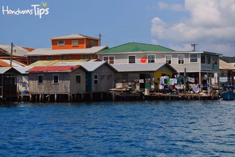 Las casas de Guanaja son un prototipo del ingles que vive en el Caribe.