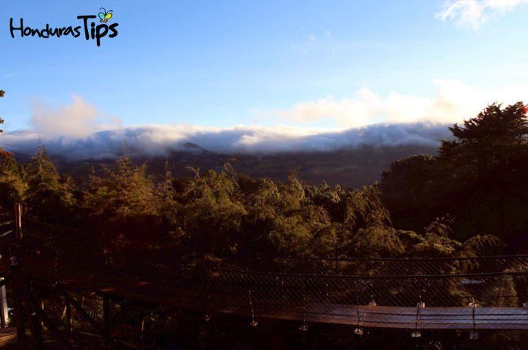 Vista desde el Hotel Única vista en el cerro El Pital (Un lugar con variedad de restaurantes y hoteles de montaña).