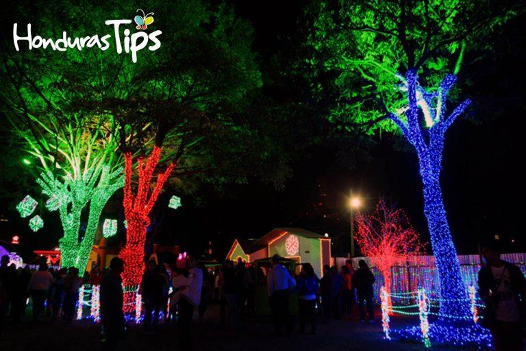 Millones de luces alumbran esta villa navideña.