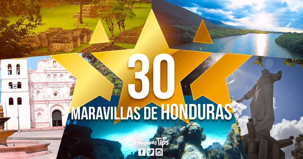 Las 30 Maravillas oficiales de Honduras