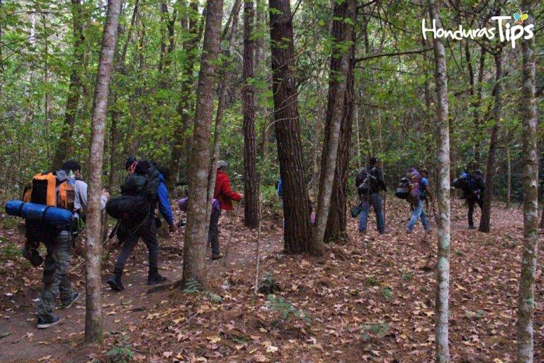 Grupo de hondureños que subieron al Celaque.