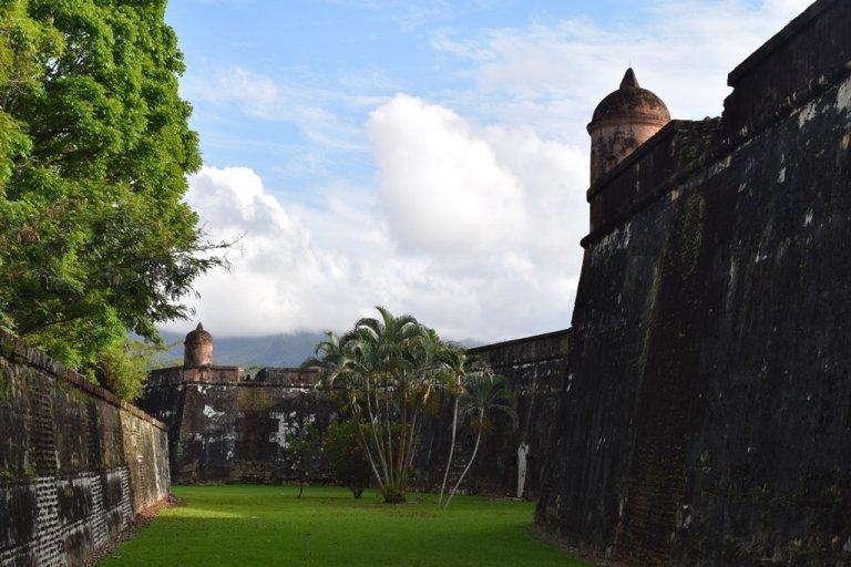 Una panorámica excelente del Castillo de Omoa.