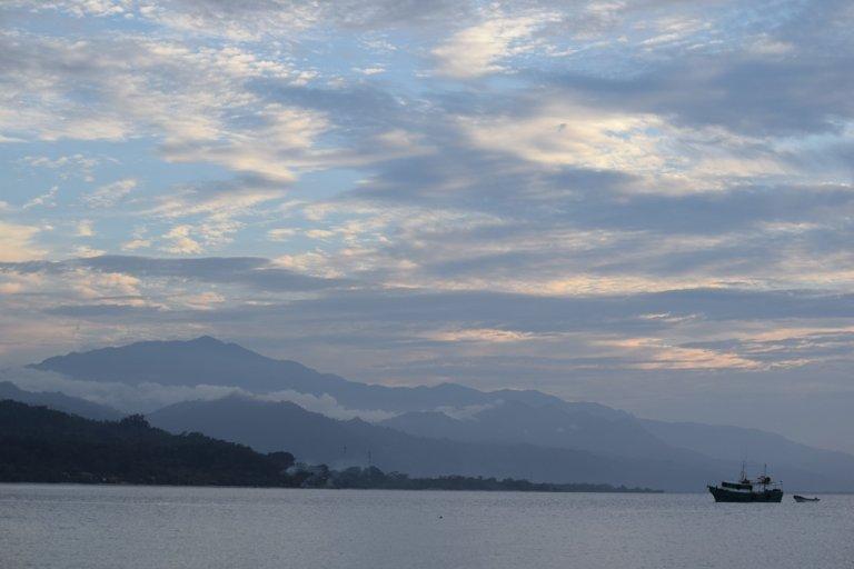 Sal tomó está espectacular fotografía de la Cordillera de Omoa.