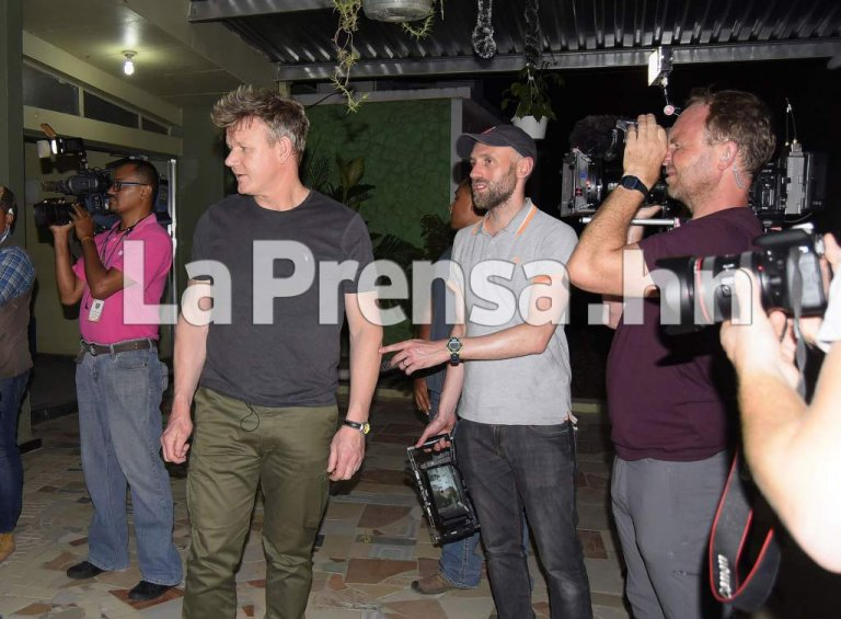 La Prensa de Honduras obtuvo las primeras gráficas del chef en San Pedro Sula.