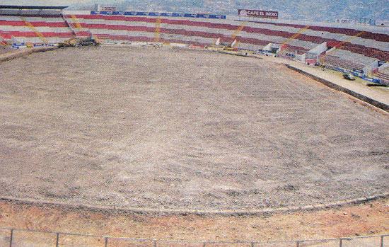 Estadio nacional sin grama
