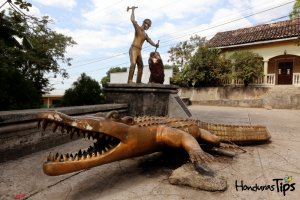 >El lagarto de oro que vive en El Corpus, Choluteca