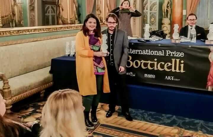 María Echeverrí gana premio en Italia