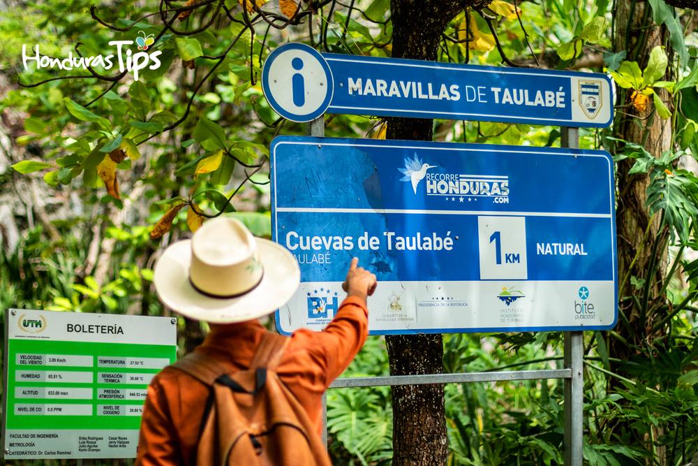 Las cuevas de Taulabé estan a 20 kilómetros del Lago de Yojoa.