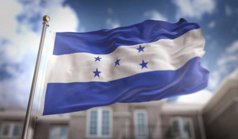 La Bandera Nacional de Honduras.