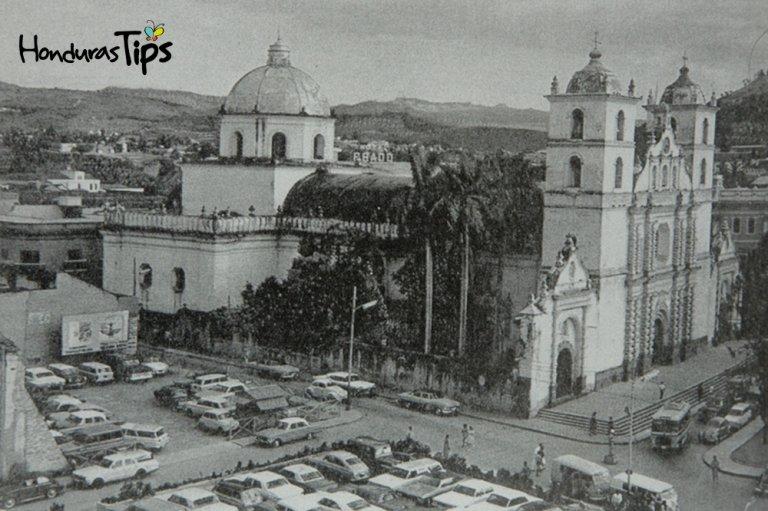 El centro histórico de Tegucigalpa en épocas antiguas.