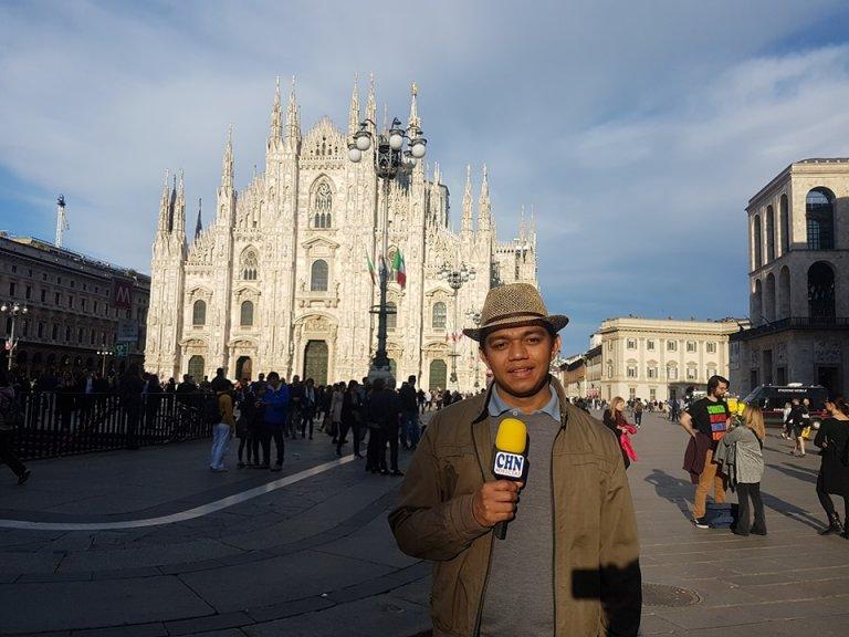 También realizó coberturas desde Venecia, Italia.