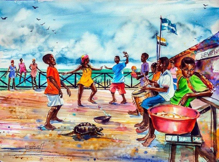 La exposición de arte también destaca la raíces de Honduras.