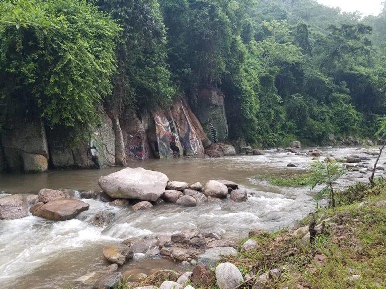 El río Cececapa será un gran atractivo turístico gracias a este mural.