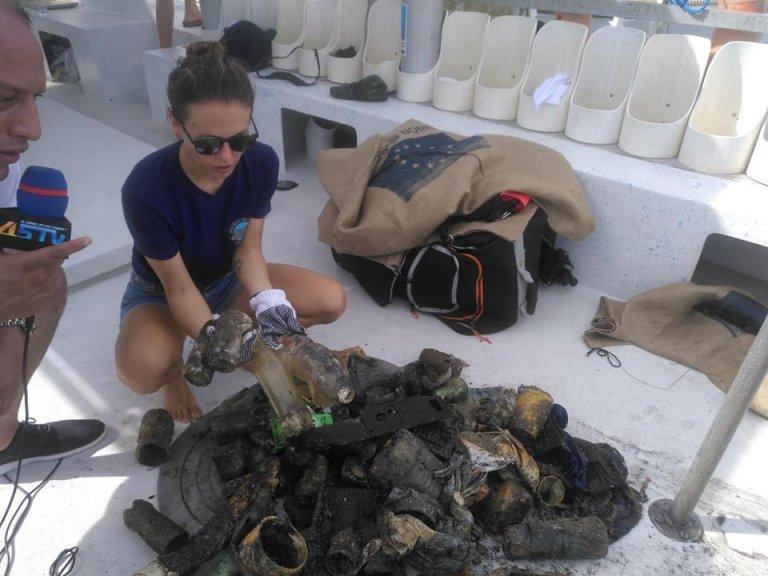 La limpieza sirvió para mantener la protección del arrecife coralino.