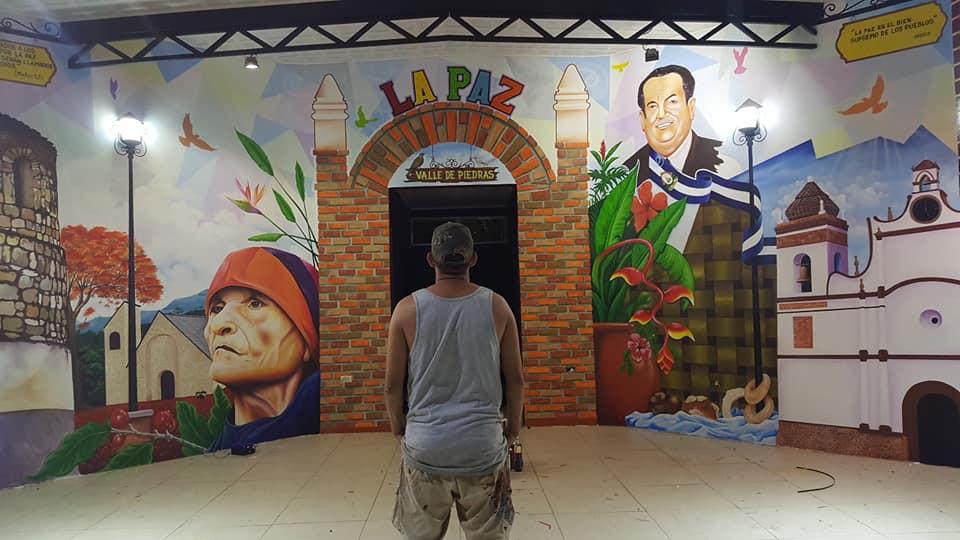 Mural municipio de La Paz